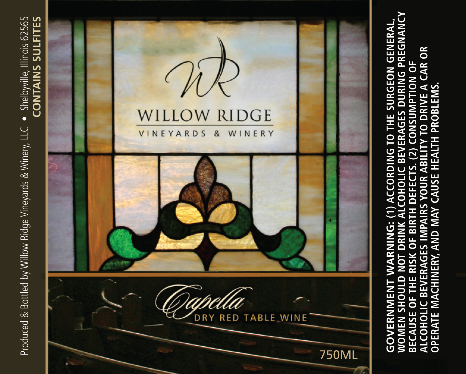 Willow Ridge Winery Capella Wine