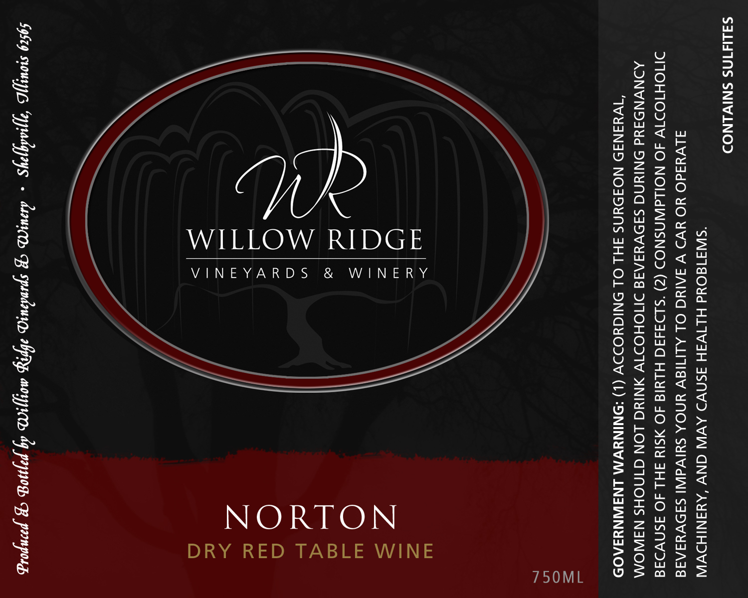 Willow Ridge Winery Norton Wine