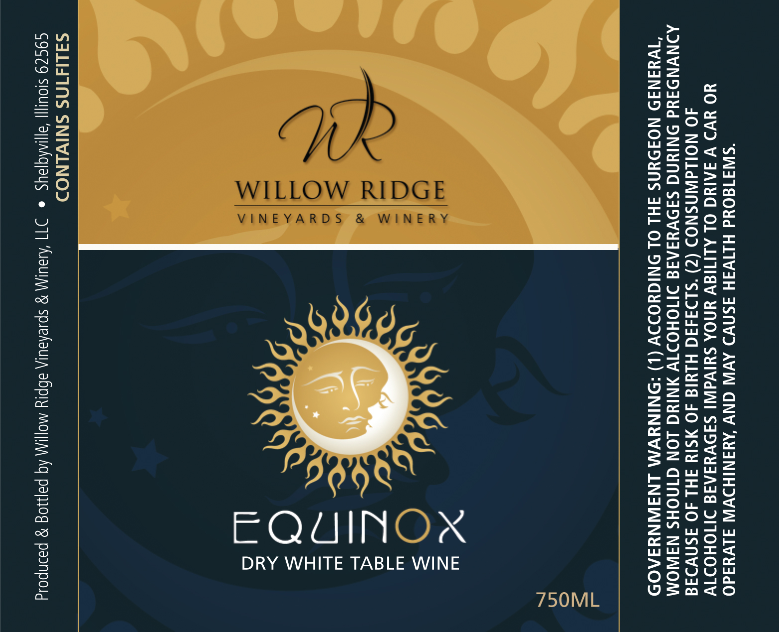 Willow Ridge Winery Equinox Wine