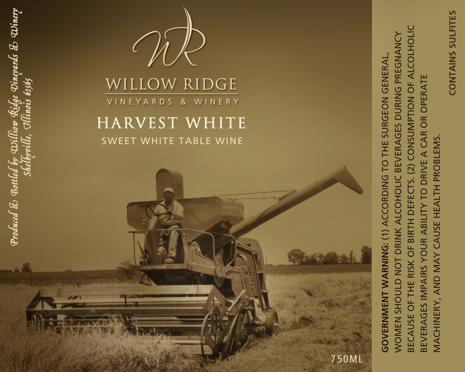 Willow Ridge Winery Harvest White Wine