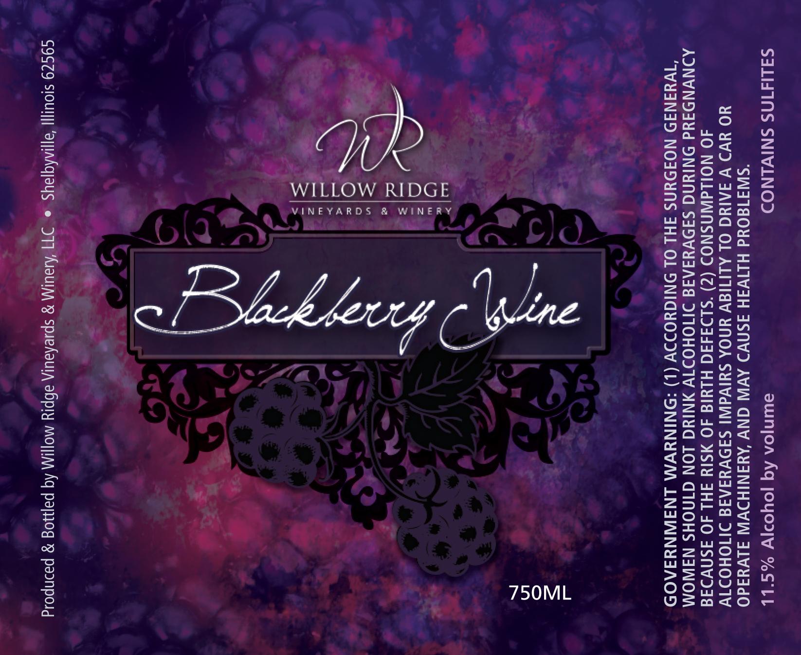 Willow Ridge Winery Blackberry Wine